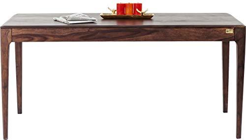 Kare Design Brooklyn Walnut Tisch, Esszimmertisch aus Massivem Sheesham-Holz, Dunkelbraun gebeizte Esstisch, (H/B/T) 76 x 175 x 90 cm, eiche