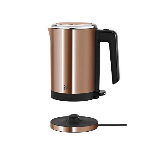 WMF Küchenminis Mini Reise-Wasserkocher Edelstahl 0,8l, elektrischer Wasserkocher mit Kalkfilter, 1800 W, kleiner Teekocher, edelstahl matt, kupfer