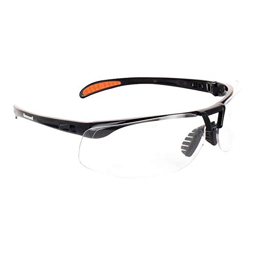 Honeywell 1015366 Protege Floating Lens Eyewear Metallic Black Frame with Clear Anti-Scratch Lens