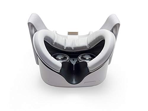 VR Cover Facial Interface and Foam Replacement Set for Oculus Quest 2 (Dark Grey & Light Grey)