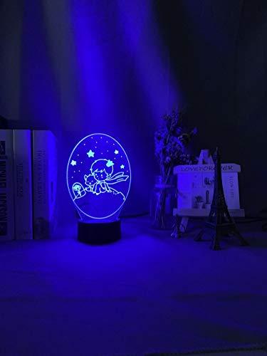 Lámparas infantiles Luces de decoración de dormitorio para niños para el principito luz de noche para bebés 7 colores luz de noche para niños con batería USB