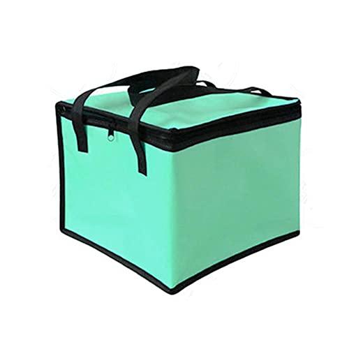 Bolsa térmica con aislamiento de gran capacidad, impermeable, sándwich, papel de aluminio, fiambrera, portátil, plegable, térmica, para picnic, comida verde