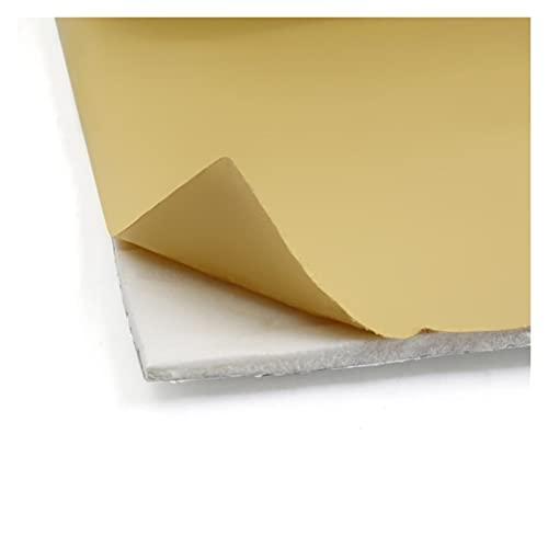 YANGQI yaoqijie Aislamiento de Sonido Universal Blanco automóvil Interior Estera Parte repalcement Aluminio + PE algodón Lasting (Color Name : Gold)