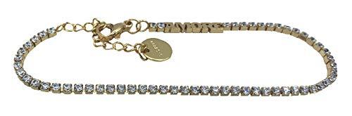 Pulsera de hilo de cristales con inscripción 'Amore'.