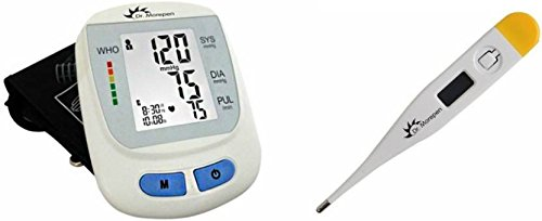 Dr. Morepen BP-09 BP Monitor with MT-101 Digi Classic Thermometer Health Care Appliance Combo (White)