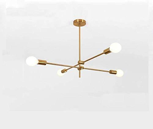 Gold Sputnik Chandelier, Pendant Lamp Moderne stijl inbouw Ontwerpers Metal Ceiling Lamp Kroonluchter Lighting Bevestiging 4 Light