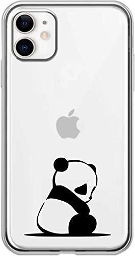 Simar Products - Cover in Silicone per Apple iPhone 11 a Forma di Panda Trasparente
