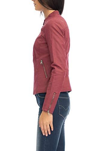 ONLY Damen onlSAGA Faux Leather Jacket CC OTW Jacke, Rot (Cordovan Cordovan), 36