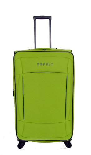 ESPRIT trolley colors 70 cm green 16670 Grün 4 Rollen Reisetrolley Trolley Reisetasche Koffer Reisekoffer 93 L