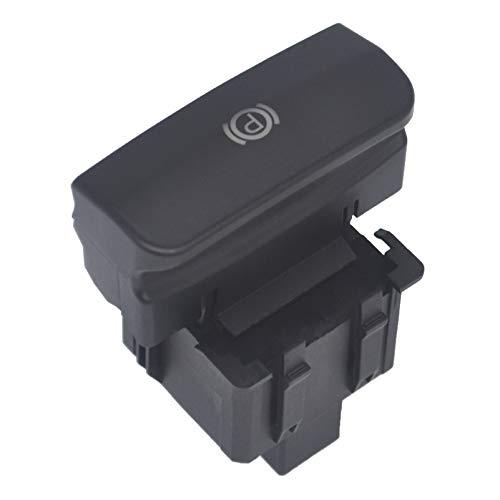 Interruptor Freno de Mano Eléctrico C4, KASturbo Botón de Control de Freno para C4 Picasso DS4 3008 5008 OEM: 470703 470706 (Negro Brillante)