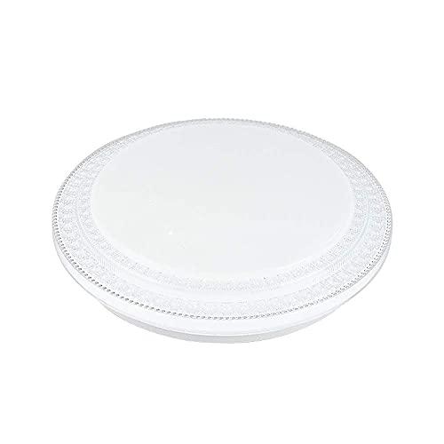 HLY Lámpara moderna simple, blanca redonda moderna Led regulable Luz de techo de 3 colores Luz de techo Sala de estar Escalera Pasillo Montaje empotrado Lámpara de techo Luminaria,40 cm
