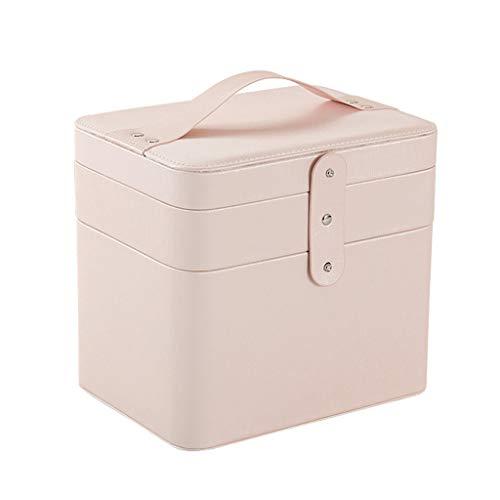 Make-up tas met vakken klein, draagbare make-up koffer cosmetische houder cosmetische organizer make-up box roze