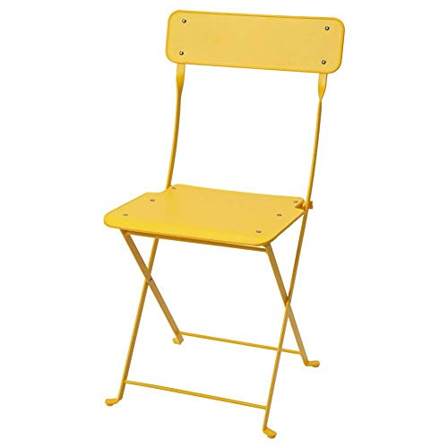 IKEA ASIA SALTHOLMEN - Silla Plegable para Exteriores, Color Amarillo