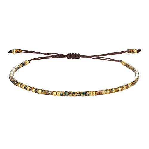 C·QUAN CHI 2020 Nuevo Leopardo Miyuki Beads Link Pulsera Amistad Pulsera Colorido Pila Ajustable Brazalete Charm Joyas para Mujeres