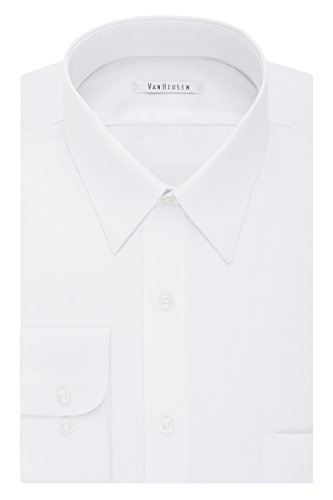 Van Heusen Men's Size FIT Dress Shirts Poplin (Big and Tall), White, 20