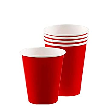 amscan Red Party Paper Cups 9 Oz 20 Ct.