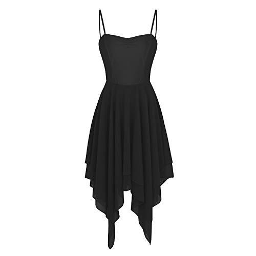 PATNICK Elegant Lyrical Modern Dance Kleid Für Frauen Ballettkleid Adult Contemporary Dance Wear Praxis Kleidung Leistung,Black-M