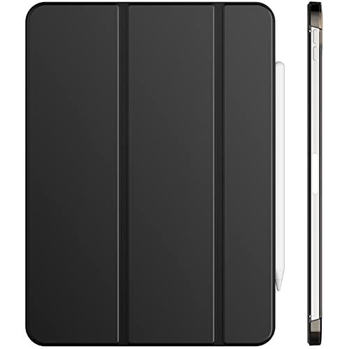 JETech Hülle Kompatibel mit iPad Air 4. Generation 2020 10,9 Zoll, Unterstützung Pencil Aufladung, Abdeckung mit Auto Schlafen/Wachen, Schwarz
