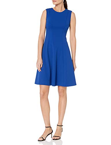 Tommy Hilfiger Women's Fit and Flare Dress, Marina Blue, 10