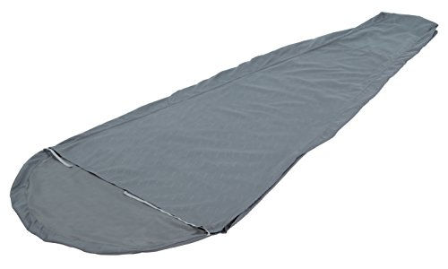 ALPS Mountaineering Brushed Polyester Mummy Sleeping Bag Liner , Gray