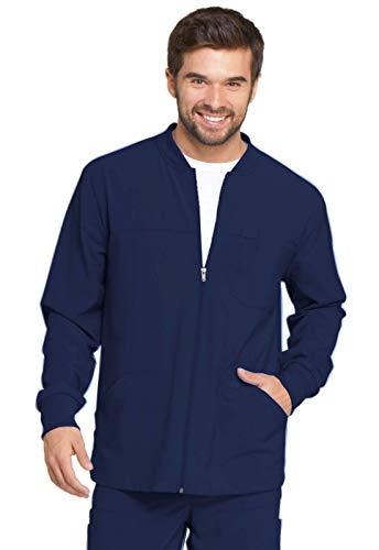 Dickies EDS Essentials Men's Men's Zip Front Warm-Up Jacket, DK320, M, Navy