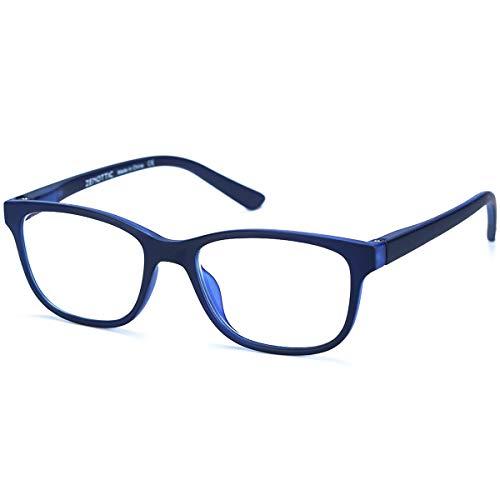 mejores Gafas Protectoras para Ordenador ZENOTTIC Gafas Infantiles de Bloqueo de Luz Azul para Ordenadores Gafas de Juego de Lentes Antirreflejos y Ligeros Protección de Ojos para Niños y Niñas (AZUL)