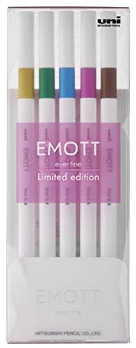 【三菱鉛筆】【数量限定】EMOTT(エモット) 水性サインペン 5色セット ELEGANCE(優美)