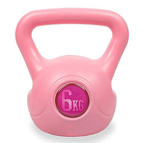 Phoenix Fitness - RY1422 - Fuerza Máxima Y Peso Kettlebell Ejercicio Vinilo Para Entrenamiento Cardiovascular En Casa Ejercicio De Gimnasio 6 kg, Rosa