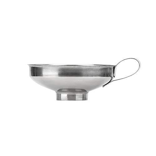 CuiGuoPing Breiter Mund Trichter, Filtertrichter, mit Armlehnen, Küchenhelfer, Edelstahl, 1 Stück (S)