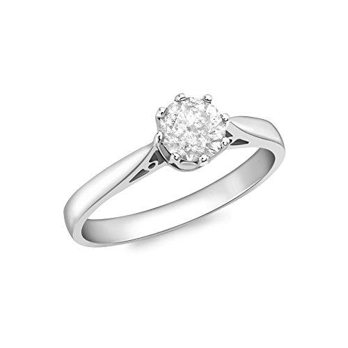 anello donna oro bianco con diamante Carissima Gold Anello da Donna