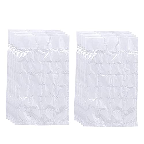 conpoir 10 Uds Bolsas de Cubitos de Hielo Desechables autosellantes Molde de Hielo Transparente Nevera congelador máquina de Hielo