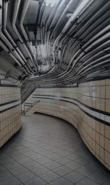 Dibond schilderij - fotokunst op aluminium - 70x118 - rhythm of the city