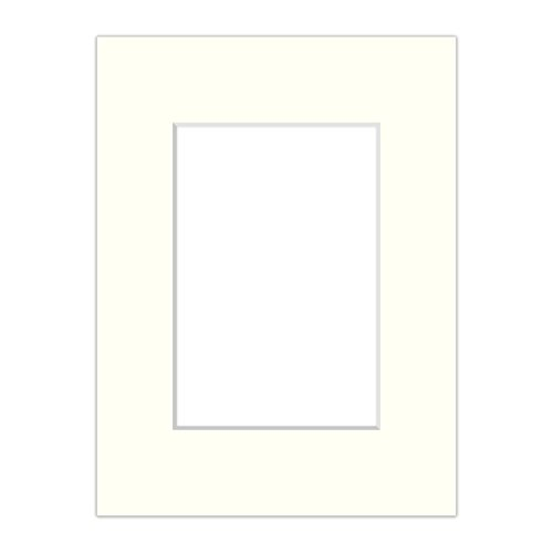 AlphaUVplus Premium Passepartout Creme-Weiß - alle Standard Größen - 1,4mm stark - Museumsqualität (Außen: 40x50 / Innen: 30x40)