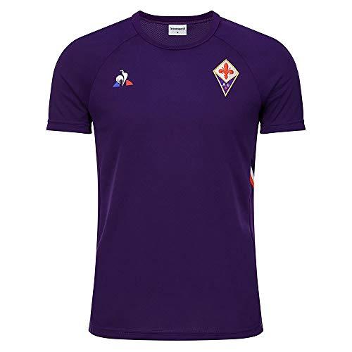 Le Coq Sportif Fiorentina Training Tee SS M Cyber Grape - Maglietta Uomo, Uomo, Maglietta, 1920642, Viola (Cyber Grape), XS