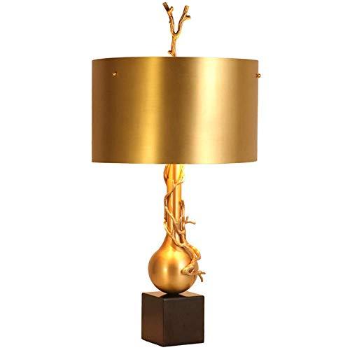 Lámparas de Mesa Lámpara de Escritorio de habitación de Hotel de mármol de Cobre Lámpara de Escritorio de habitación Modelo de Villa Lámpara de Escritorio de diseñador de Lujo 39 * 66cm