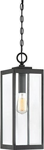 "Quoizel WVR1907EK Westover Modern Industrial Outdoor Mini Pendant Ceiling Lighting, 1-Light, 150 Watt, Earth Black (21""H x 7""W)"