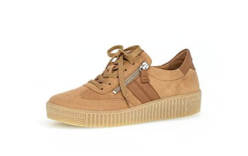 Gabor Damen Halbschuhe, Frauen Sneaker Low,lose Einlage,Best Fitting,Strassenschuhe,Lady,Caramel/nut(Natur),44 EU / 9.5 UK