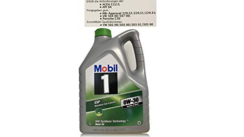 MOBIL - 558.47.41 - 152313 - MOT OEL 0W30 ESP 5L MOB - Literpreis 18,25 €