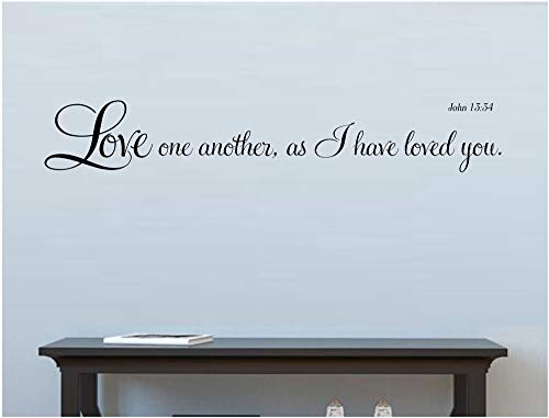 John 1334 Sticker mural Inscription Love one Another as I Have Loved You