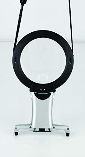 Daylight Company Naturalight - Lente d'ingrandimento con retroilluminazione LED, cornice in plastica, da appendere al collo per avere le mani libere, colore: nero