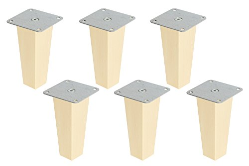 New Swedish Design 6 x IKEA Kallax Regal Füße Möbelfüße Möbelbeine Pyramid Höhe 16 cm Buche