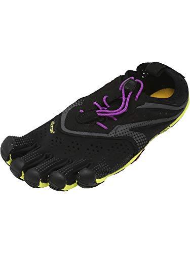 Vibram FiveFingers V-Run Black/Yellow/Purple 39 (US Women's 8-8.5) B (M)