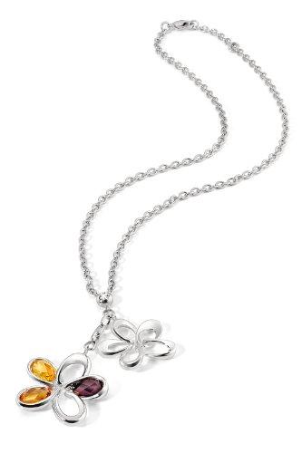 Morellato SIQ03 - Catenina con pendente da donna con citrina, acciaio inossidabile
