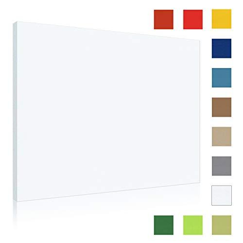 Akustikbild AbsorPic Stoff Farbe Weiss | Premium Schall Absorber verbessert die Raumakustik | Viele Größen und Farben | 60 x 60 x 3cm | Made in GERMANY, Köln