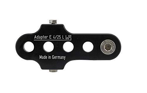 Brand Kurbelarmverkürzer FA E 4/25 Links extra breit für E-Bikes und Pedelecs bei Knie-Behinderung, Farbe:Schwarz