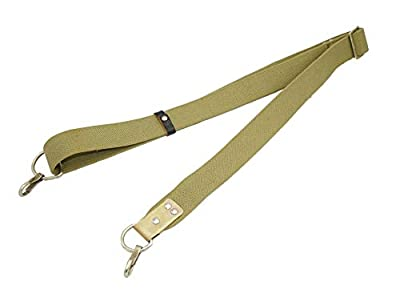 2 Point Rifle Sling - Sling Military Surplus - Soviet Russian Army Standard Canvas Rifle Sling - Airsoft Sling Rifle - Yugo Sling - Adjustable Length Gun Sling - 2 Metal Hook for Outdoor Sports