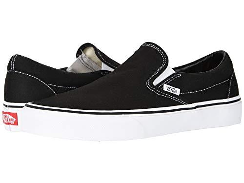 VansClassic Slip-On - clásico sin cordones Unisex adulto , Blanco (negro, (Black / Canvas)), 38 M EU Damen / 38 M EU herren