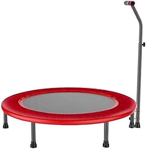HANSHAN Gartentrampoline Trampolin, Erwachsenenkindertrampolin Mit Verstellbaren Armlehnen Fitnessübung 2 Farbe 40 × (31-47) Zoll (Farbe   rot)