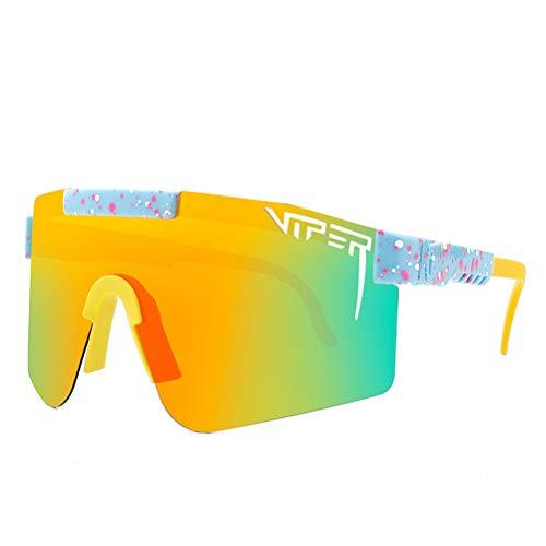 Gafas de sol polarizadas deportivas, Pit Viper gafas de sol para ciclismo, correr, resistente al viento, anti-UV, golf, TR90 UV400 para hombres y mujeres al aire libre