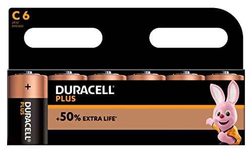 Duracell MN1400B6 Plus Power Batterie C Größe 6 Pack